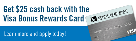 Get $25 cash back with the Visa� Bonus Rewards Card.