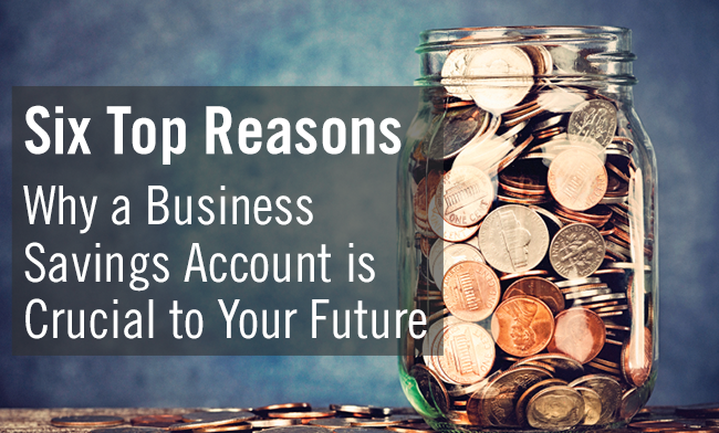 Six Reasons Why a Business Savings Account is Crucial to Your Future